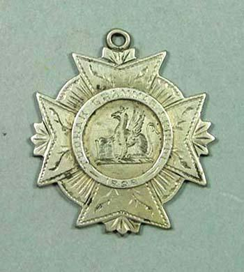 Toorak Grammar School One Mile Open medal awarded to G M Forbes, 1898