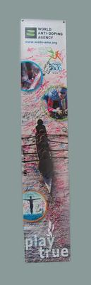 Long narrow Banner signed by athletes - 2006 Melbourne Commonwealth Games