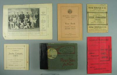 Material relating to sporting career of John Brake and brothers James, William, Stan, 1901-1920s.