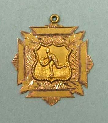 Hamilton United Football Club Premiers medal awarded to K Hyslop, 1919