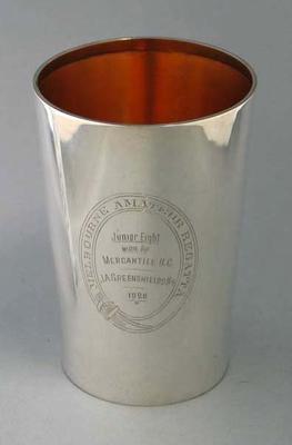 Melbourne Amateur Regatta Junior Eight trophy awarded to J A Greenshields, 1926