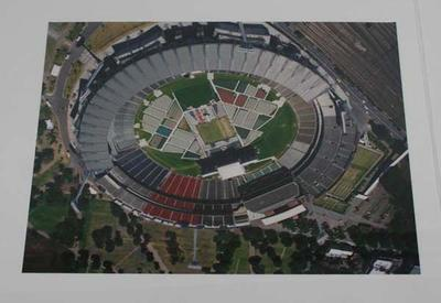 Two aerial photographs of the Melbourne Cricket Ground