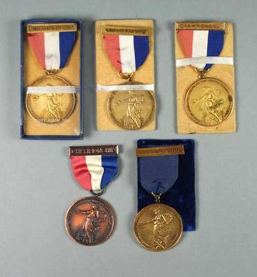 Medals -Amateur Athletic Union USA awarded to John Marshall 1950, 1951, 1954