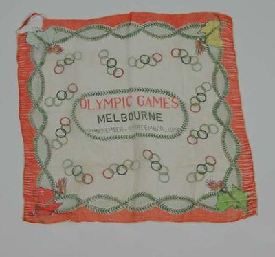 Souvenir scarf - 1956 Melbourne Olympic Games