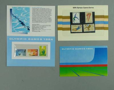 Three stamp packs, commemorating 1976 & 1984 Olympic Games