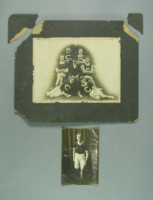 Two photographs featuring Vic Aitken, c1908