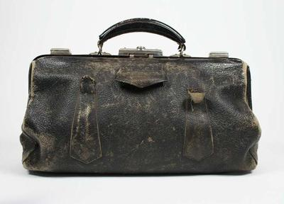 Leather case, used to house pistols c1950s