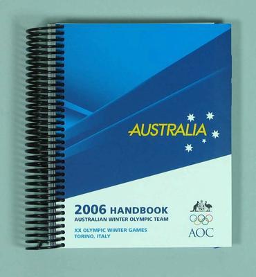 Handbook, 2006 Australian Winter Olympic Games team