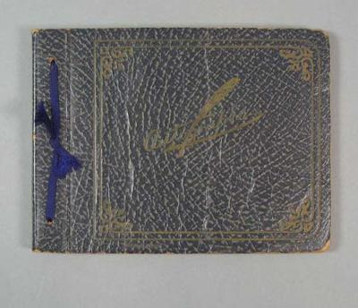 Autograph book, used by Phyllis Cantwell c1937; Documents and books; 1992.2699.8
