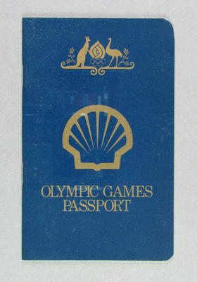 """Booklet, """"Olympic Games Passport"""" c1976"""