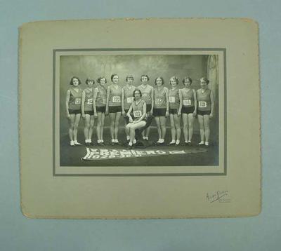 Photograph of Melbourne Women's Amateur Athletic Club, 1931; Photography; 1992.2699.19