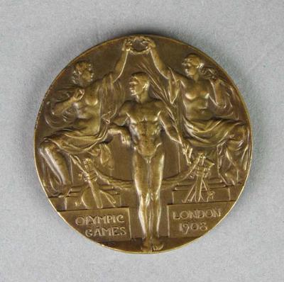 Bronze medal for 1908 London Olympic Games 1500 metres freestyle, won by Frank Beaurepaire