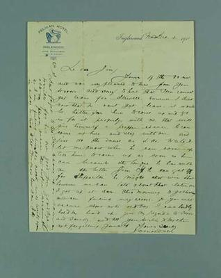 Letter written by John Donaldson, 2 Dec 1911