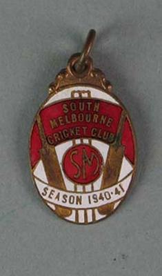 Membership medallion, South Melbourne Cricket Club - season 1940/41; Trophies and awards; 1988.1904.37
