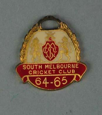 Membership medallion, South Melbourne Cricket Club - season 1964/65; Trophies and awards; 1988.1904.53
