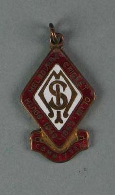 Committee medallion, South Melbourne Cricket Club - season 1949/50; Trophies and awards; 1988.1904.39