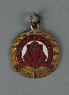 Membership medallion, South Melbourne Cricket Club - season 1950/51; Trophies and awards; 1988.1904.40