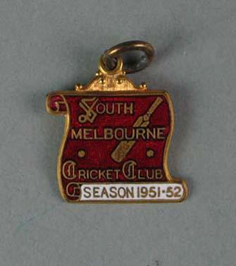 Membership medallion, South Melbourne Cricket Club - season 1951/52; Trophies and awards; 1988.1904.41