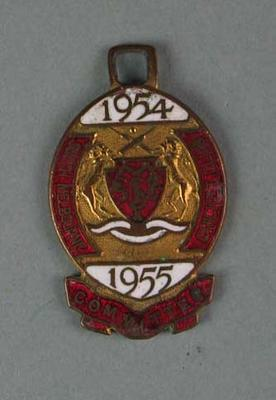Committee medallion, South Melbourne Cricket Club - season 1954/55; Trophies and awards; 1988.1904.45