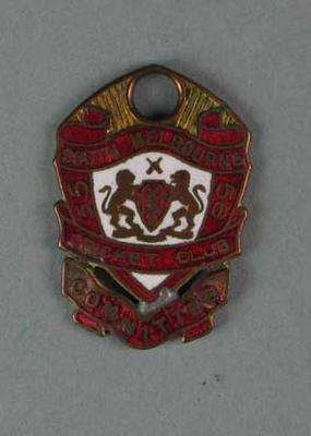 Committee medallion, South Melbourne Cricket Club - season 1955/56; Trophies and awards; 1988.1904.47