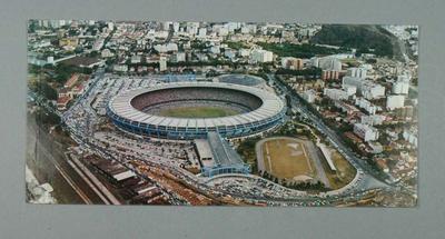 Postcard with image of Maracanã Stadium in Rio de Janeiro, c1970s