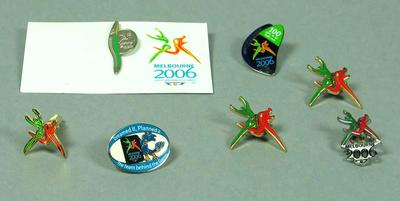 Badges, various 2006 Melbourne Commonwealth Games designs