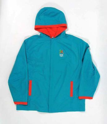 Hooded rain jacket, Melbourne 2006 Commonwealth Games logo