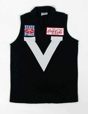 Victorian football guernsey, worn by Justin Madden in 1995 State of Origin