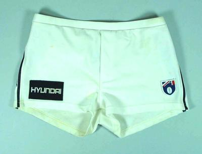 Pair of Carlton FC shorts, worn by Justin Madden c1990s