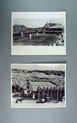 Three photographs, 1908 Davis Cup match