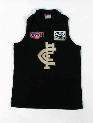 Carlton FC guernsey, worn by Justin Madden in 1995 AFL Grand Final