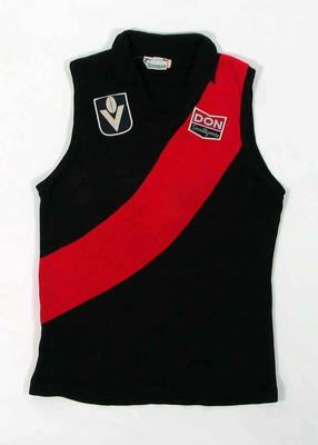 Essendon FC guernsey, worn by Justin Madden c1980-81