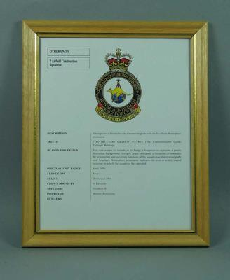 Print, RAAF 2 Airfield Construction Squadron coat of arms