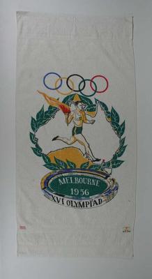 Set of 2  souvenir  towels - 1956 Olympic Games, Melbourne.