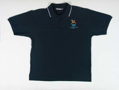 Polo shirt, 2006 Melbourne Commonwealth Games staff; Clothing or accessories; 2006.5181.37