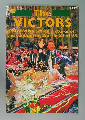 "Booklet, ""The Victors"" - Ashes 1989"