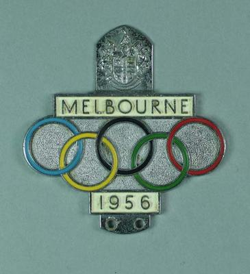 Car badge for 1956 Melbourne Olympic Games