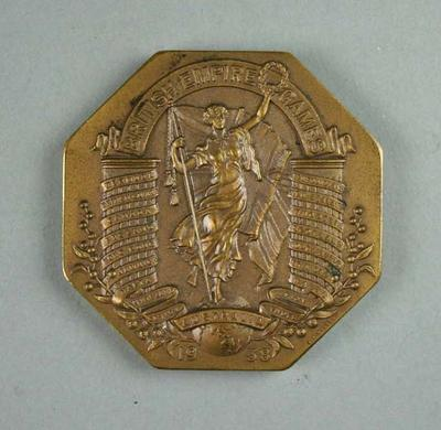 Commemorative medal, British Empire Games 1938