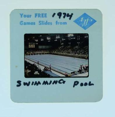 Colour slide, depicts swimming pool - 1974 Commonwealth Games