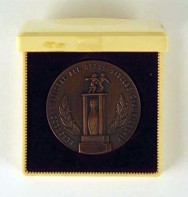 Medal, Blacklock National All Stars Single Championships 1964