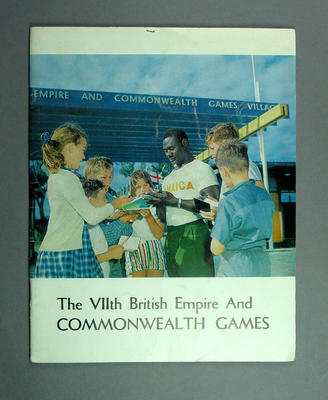 Report, 'The VIIth British Empire and Commonwealth Games: A pictorial record, public relations committee for the organising council, Perth, 1962'