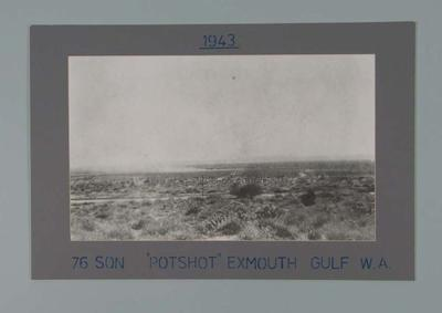 Photograph - 'Pot Shot'  76 Sqn. Exmouth Gulf, W.A. March 1943 - Keith Truscott