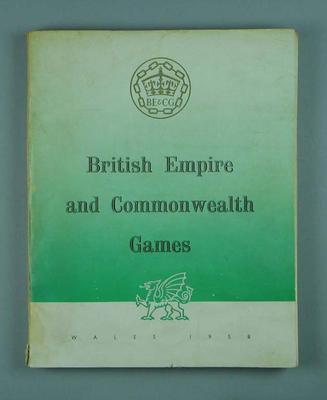 Book, 1958 British Empire & Commonwealth Games