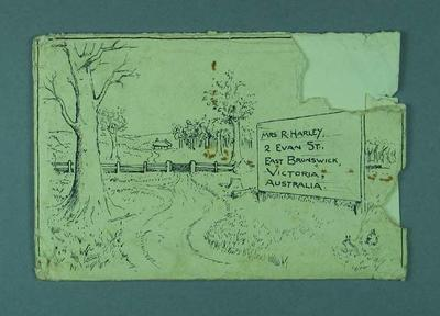 Envelope, addressed to Mrs R Harley; Documents and books; 1990.2244.44