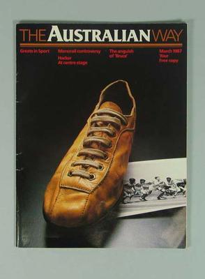 "Magazine, ""The Australian Way"" March 1987"