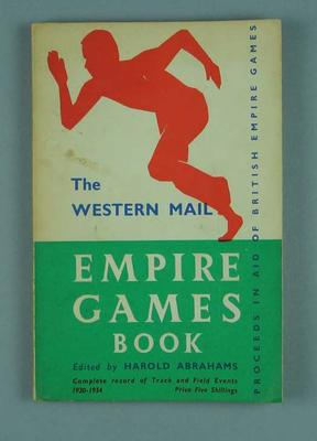 """Book, """"The Western Mail Empire Games Book"""" c1958"""