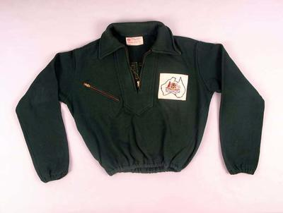 Track suit top - Australian Olympic Team 1952 Helsinki Games, worn by J.G. Davies
