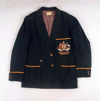 Blazer - worn by Glen Bosisto 1954 British Empire & Commonwealth Games, Vancouver