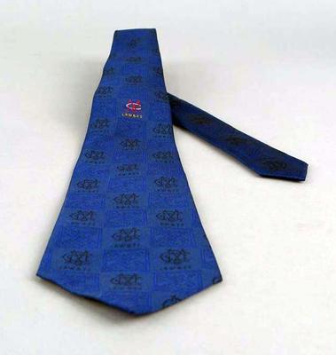 A dark blue MCC tie,  Long Room Wine & Food Society, circa 2000