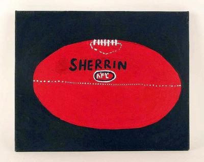 """Painting, """"Day Game Ball"""" by Alan Kunoth Apwerl and Malcolm Club Kngwarreye"""